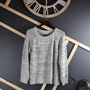 Faded Glory Metallic Knit Crewneck Sweater